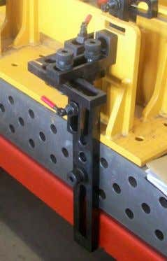 of oblong hole and system bore holes. You can have a wide range of clamping variations