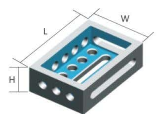 holes  use as a riser or an extension  powder-coated D28 L(mm) W(mm) H(mm) Model
