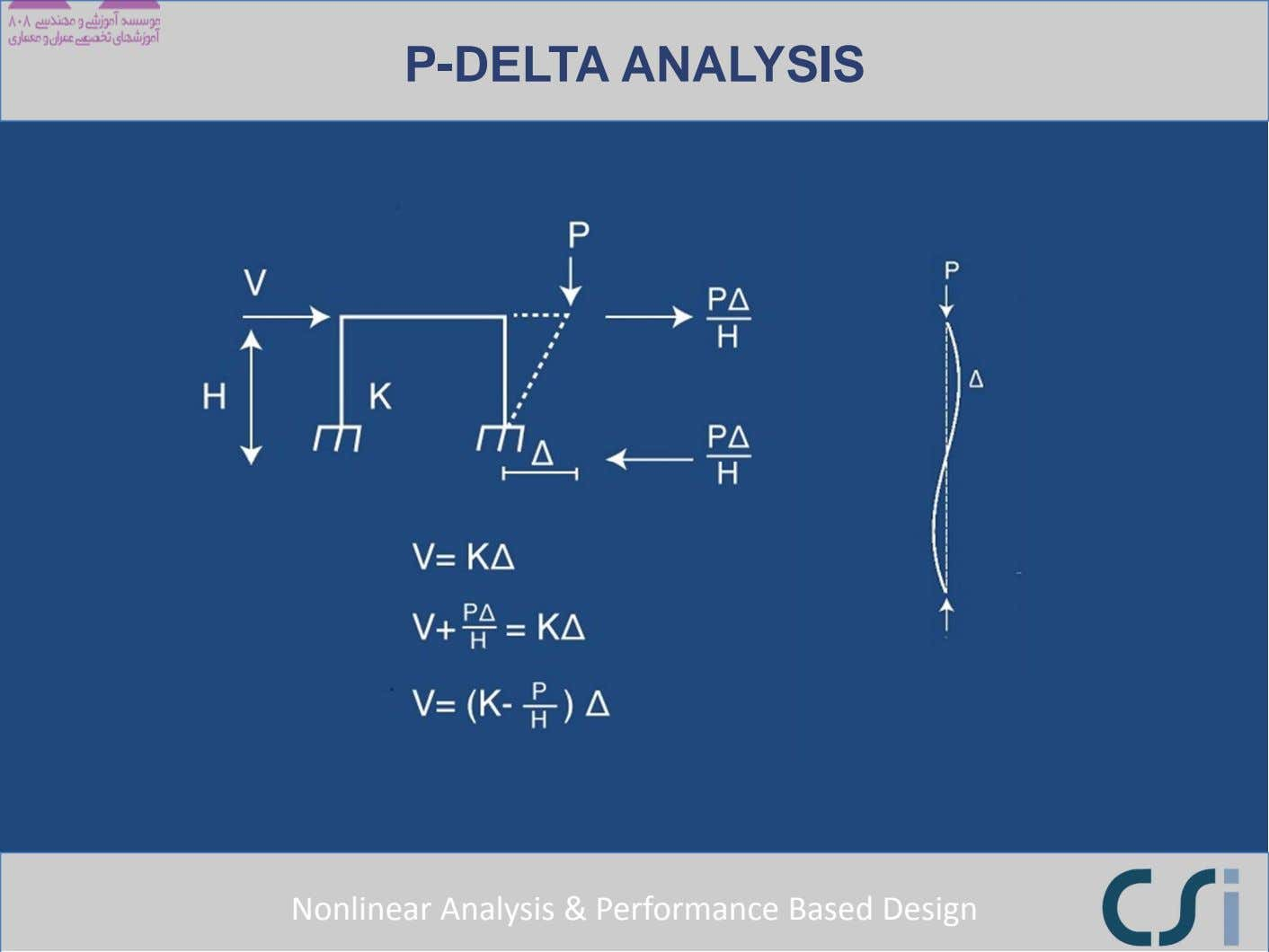 P-DELTA ANALYSIS Nonlinear Analysis & Performance Based Design