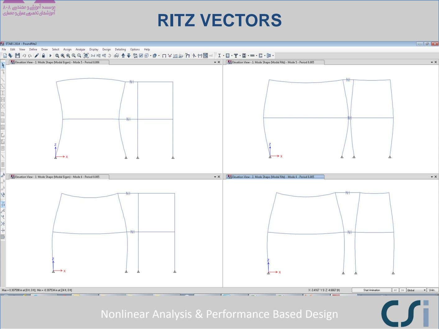 RITZ VECTORS Nonlinear Analysis & Performance Based Design