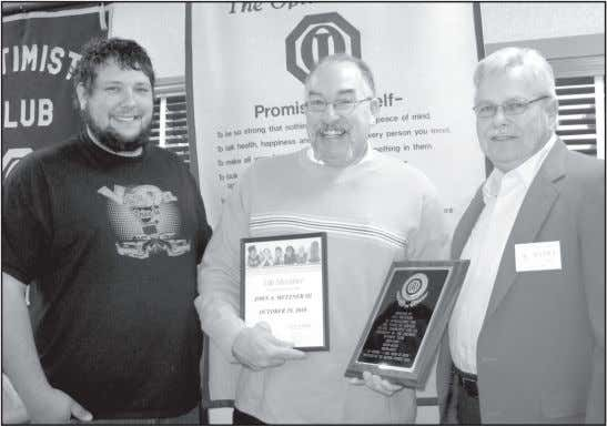 Photo submitted Metzner honored for Optimist Club service Delphos Optimist Club President Michael Friedrich, left,