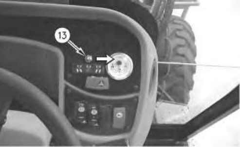 with All Wheel Steer, perform the following procedure. Illustration 6 (13) All Wheel Steer switch g00869579