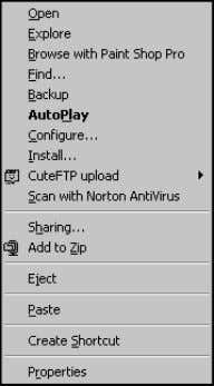 and Applications Automating Windows and Applications 5. Figure 5.4 Windows context menu. There are two important