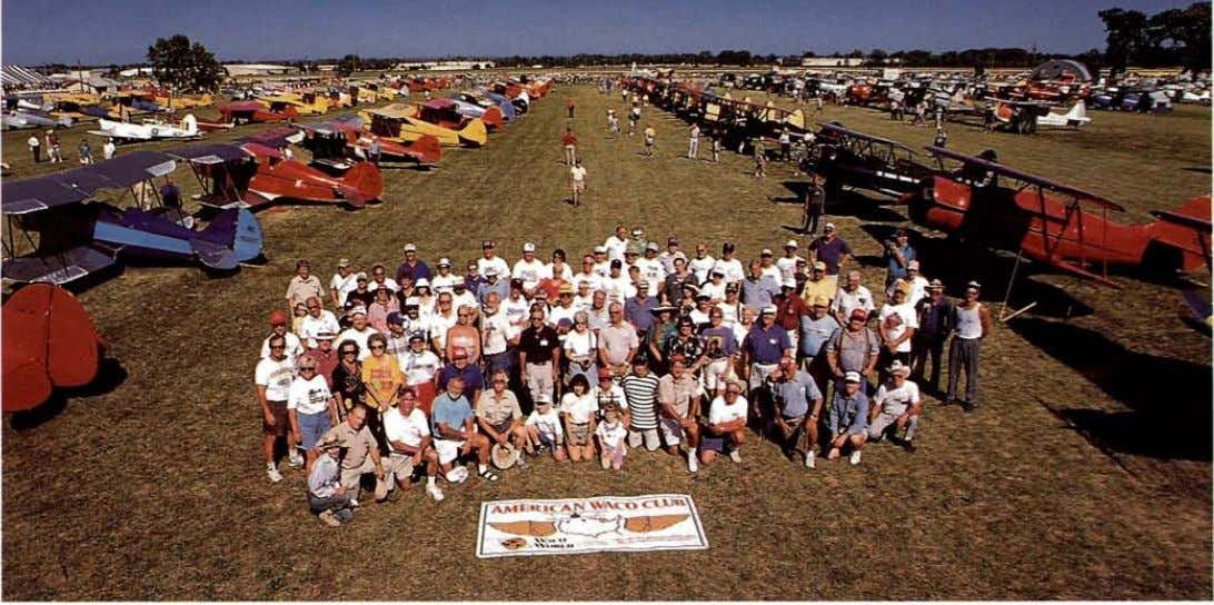 (Above) Wacos as far as the eye can see! The American Waco Club spent over