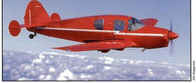 Contem­ porary class is this bright example flown to the the convention by owner Drew Peterson,