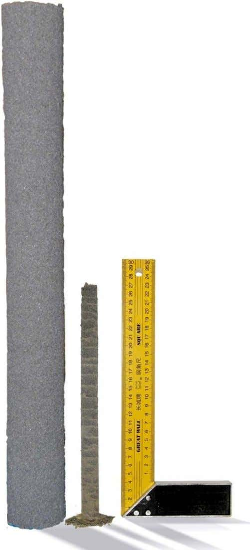 Figure 1 | Sandcastles with diameters 2 cm and 7 cm . roughness, below a