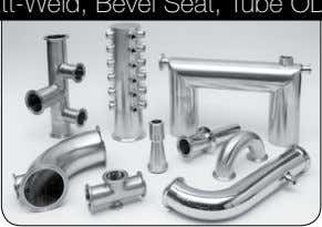 Butt-Weld, Bevel Seat, Tube OD Butt-Weld, Custom, Biopharm TUBInG, GAUGES, SIGHT GLASSES, BRAIDED HOSE