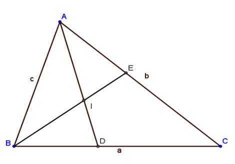 Teorema 1 Theorem I - intersect¸ia bisectoarelor ABC ⇒ AI = bAB +c AC . a+b+c