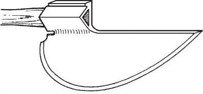 off and re-versed for use by right- handers or left-handers. Figure 17—A medieval goose-wing ax that
