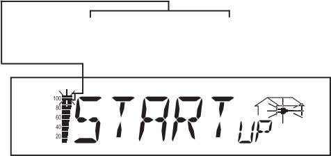 time elapsed is indicated by a bar shrinking from top down. Whenever two scale divisions stop