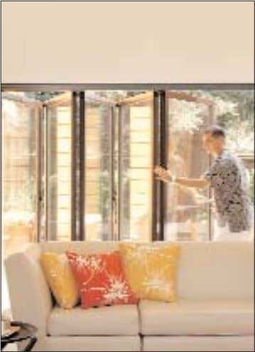 offers you a wide variety of choices and one that is respon- Glass doors in the