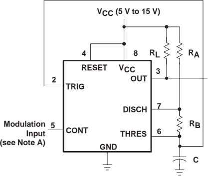for such a circuit; however, any wave shape could be used. Pin numbers shown are for