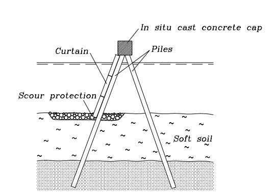 on sites with weak and soft subsoils, Fig. 2-5. Type 5: Piled breakwater Figure 2-5: Example