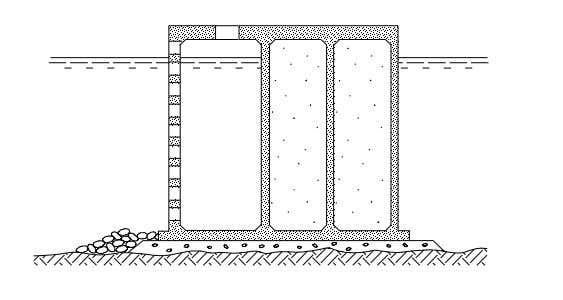Modified type: Perforated front wall caisson breakwater Figure 2-7: Example of perforated front wall caisson