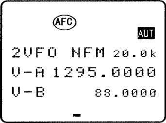 toggle the AFC status on/off regardless of displayed mode). To toggle AFC on/off , the legend