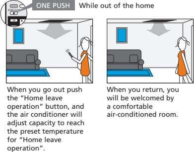 "ONE PUSH While out of the home When you go out push the ""Home leave"