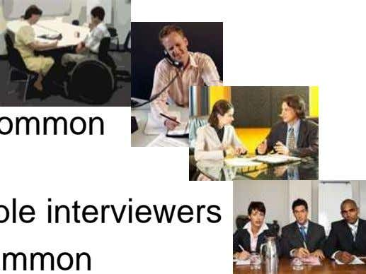 Types of Interviews … • Initial screening • Telephone • On-Site Interview-most common – 1:1 Interview