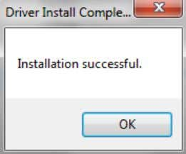 Once the driver has been successfully installed click Ok. Figure 2. 30 Once you have purchased