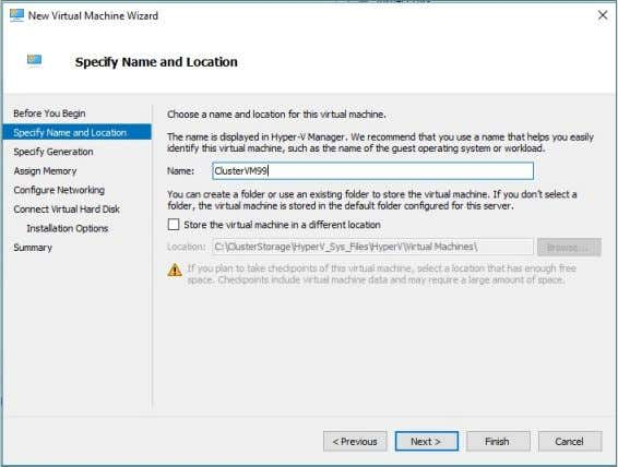 as a Global Hyper-V setting, as shown in Figure 28 . Figure 28. View of Virtual