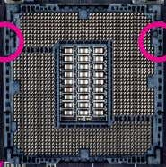 and the notches on the CPU. Alignment Key LGA1150 CPU Socket Pin One Corner of the
