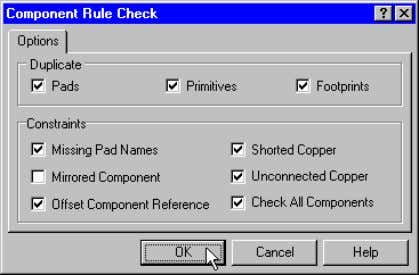 pad. Check PCB footprints with the Component Rule Check Component Enhancements Modifying a Component in the