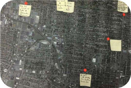 to get input on neighborhood concerns. The activities are documented below. • Figure 6: Aerial Map