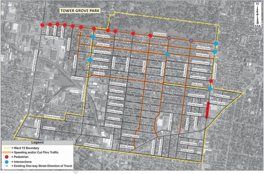 Ward 15 Neighborhood Traffic Study | City of St. Louis Figure 5: Resident Concerns 15