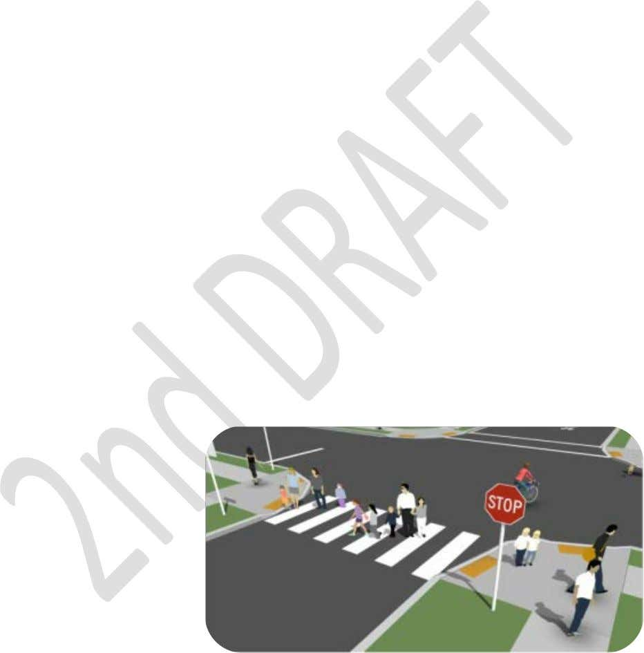 drainage patterns than other traffic calming devices. Lateral Striping (Crosswalks and Stop-Bars) Lateral striping
