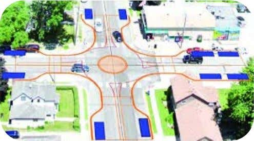 are designed to move traffic at speeds of, roughly, 15 mph through the intersection. Roundabout Intersection