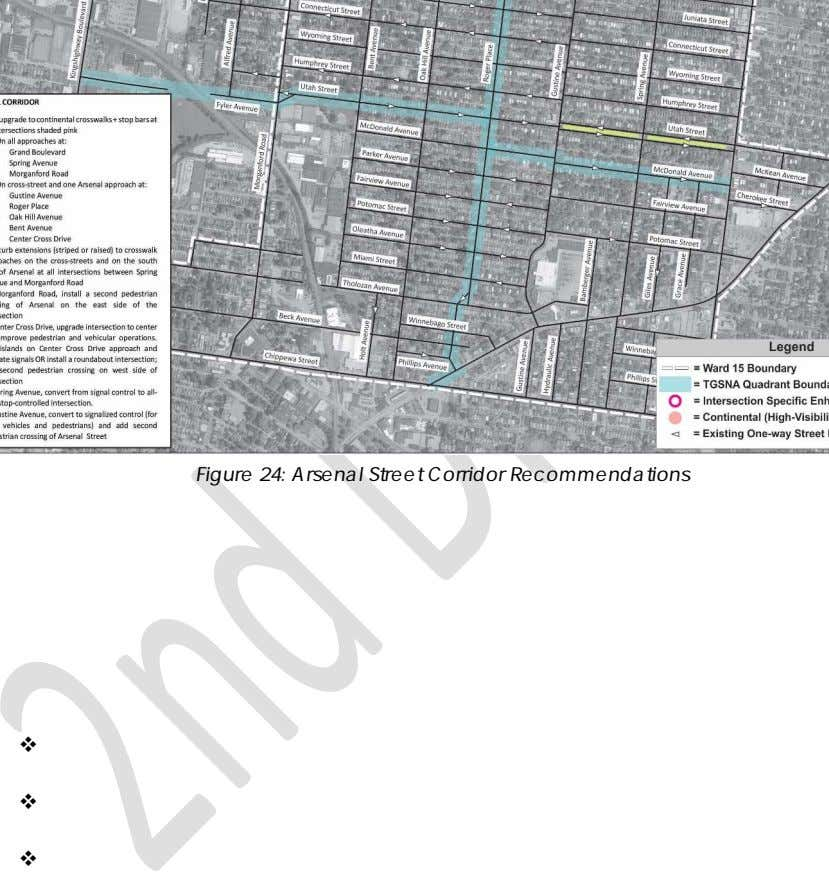 Figure 24: Arsenal Street Corridor Recommendations   