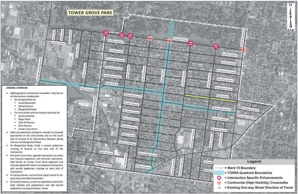 Ward 15 Neighborhood Traffic Study | City of St. Louis Figure 24: Arsenal Street Corridor Recommendations