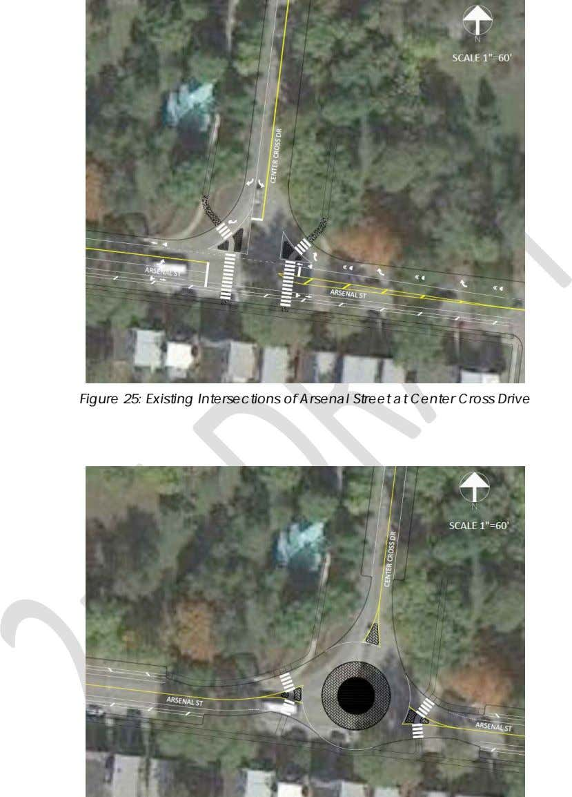 Figure 25: Existing Intersections of Arsenal Street at Center Cross Drive