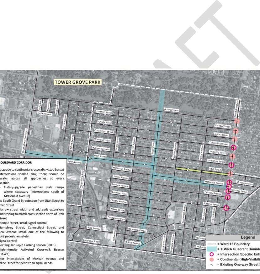 a pedestrian-oriented corridor. (the east approach). Grand Boulevard Corridor Although the intent of the study