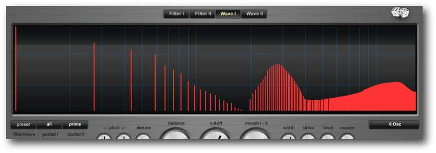 W AVE I/II Oscillators provides you with the base material for sound synthesis. They generate periodic
