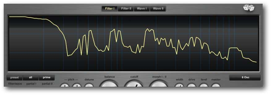 "F ILTER I/II The synthesis of Addicitve Synth is based around a ""spectrum filter"", which allows"