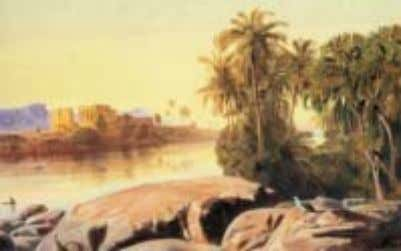 Fig.1: Edward Lear painting, 'Philea on the Nile' Fig.2: Hockney, British painter, made a print