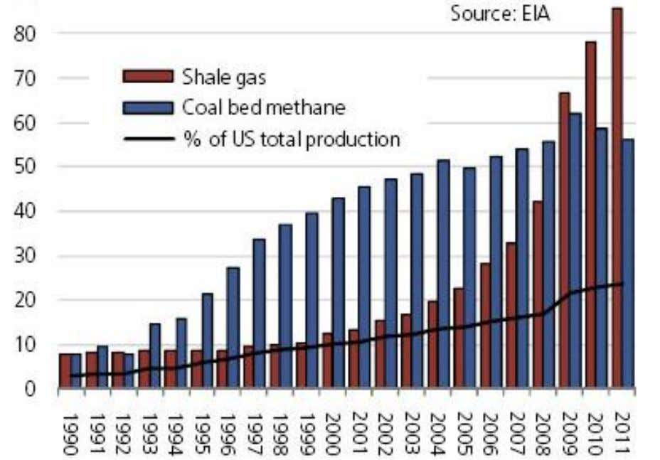 one-quarter of US production US Shale Gas Production (bcm) Source: EIA, Annual Outlook for 2011 ©