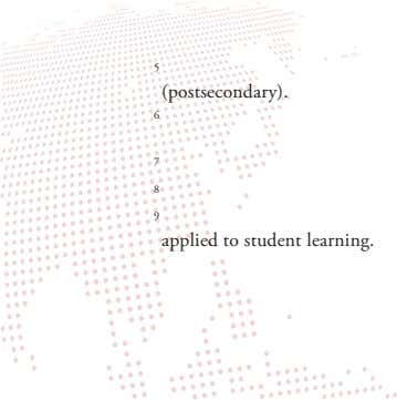 5 (postsecondary). 6 7 8 9 applied to student learning.