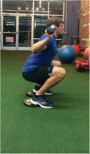 Dynamic Deep Squat Figure 5. Heel-elevated squats. shoes compared with running shoes; however, trunk lean was