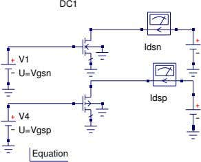 DC1 Idsn V1 U=Vgsn Idsp V4 U=Vgsp Equation
