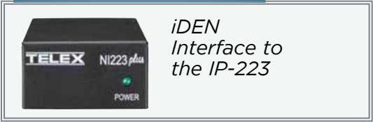 iDEN Interface to the IP-223