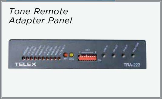 Tone Remote Adapter Panel