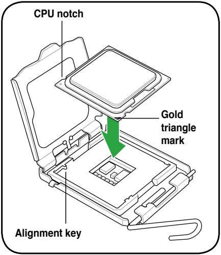 CPU notch Gold triangle mark Alignment key