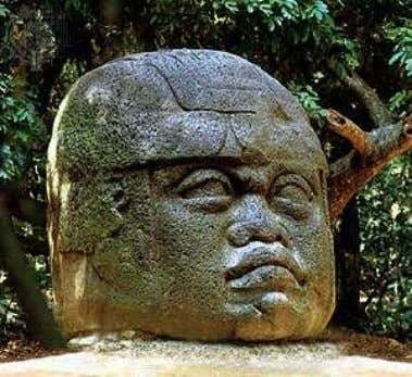 Dynasty of China, where writing first emerged and developed fig. 4: Olmec colossal basalt head, Museo