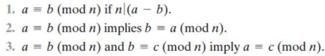 Modular Arithmetic The Modulus Properties of Congruences Modular Arithmetic Operations Examples