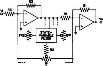 it is the entire family of filter functions done by means of Fig. 7. Parametric equalizer