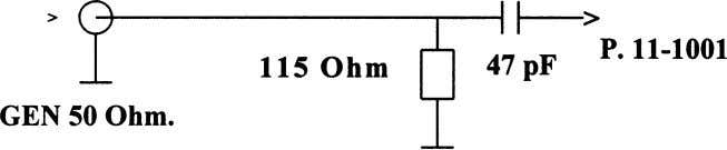 of the tuner (1001 diagram C) across the following network: Note: For Pal I sets, frequency