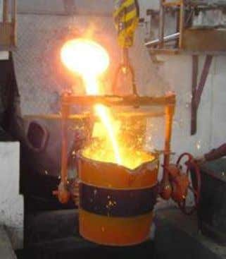 melt. Lower frequencies can generate stirring or turbulence in the metal. A preheated, one- tonne furnace
