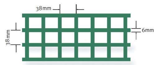 FRP Grating Patterns: Standard Mesh Mini Mesh *NB. Mini Mesh is only available in 38mm deep