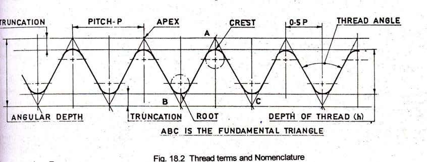 Fundamental Triangle: Triangle of which two sides are the flank with sharp crest and root. The